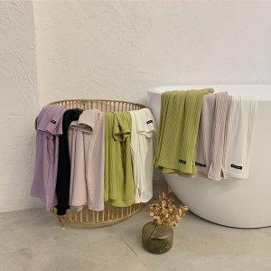 면혼방 심플 여성잠옷 이지웨어 면파자마 홈웨어 3종