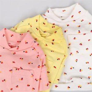 세모 포켓 면 티 XS아기강아지옷 봄옷 실내복 잠옷