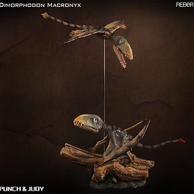 REBOR 리보 디모르포돈 한쌍 펀치 주디/공룡 피규어