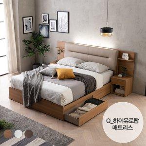 [에몬스] 엘리 LED 서랍형 침대(Q)_하이유로탑 매트리스