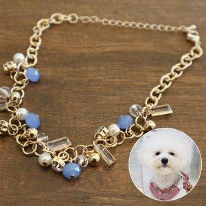 블링블링 가벼운 강아지 체인 목걸이 비즈 스타일