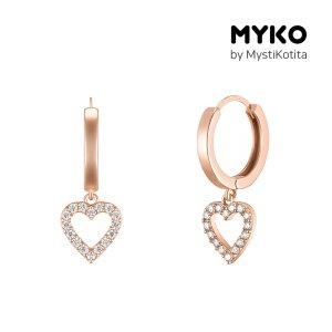 [미코주얼리] 14k 핀 리브유 귀걸이 MK3EC10