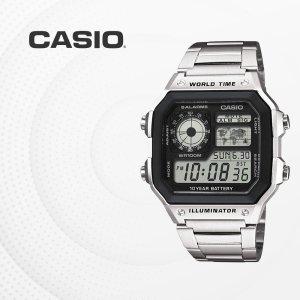 카시오 CASIO AE-1200WHD-1A 사각 커플시계 AE1200
