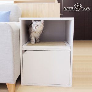 캣츠로그 복층 고양이화장실 원목 대형 화장실