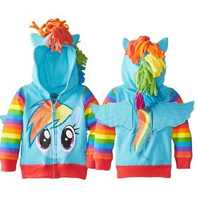 My Little Pony Rainbow Dash Girls Hoodies / zip / Character