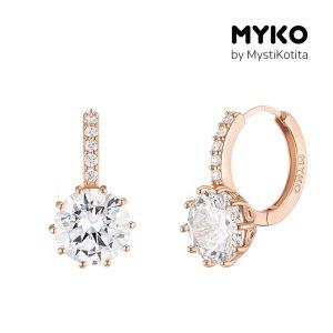 [미코주얼리] 14k 핀 파온스톨 귀걸이 MK3EC9