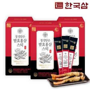 한국삼 정성담은 발효홍삼스틱 30포3박스/쇼핑백/추석