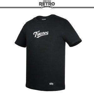 [티켓MD샵][LG트윈스] 레트로 사계절 티셔츠 (블랙)