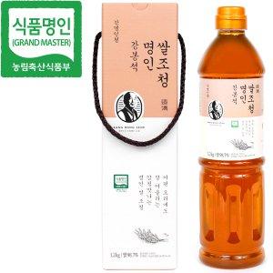 식품명인 강봉석 쌀조청 1.2kg/조청 물엿 올리고당 꿀