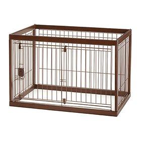 리첼 원목펫 서클 브라운 강아지원목 철장 [90-60D]