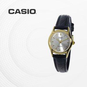 카시오 CASIO LTP-1094Q-7A 가죽밴드 여성 손목시계
