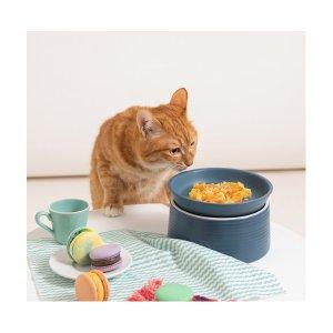 강집사 마카롱 고양이 밥그릇 도자기 식기(유광)