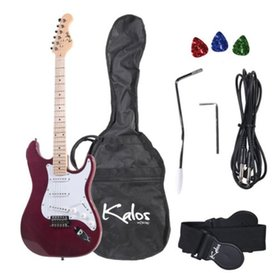 Kalos 1EG-MP 39-Inch Electric Guitar with Gig Bag , 3 Picks, Strap, Amp Cable, and Tremolo Arm - F