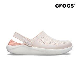 Crocs 여성 라이트라이드 클로그_204592-6PL (베얼리핑크/화이트)
