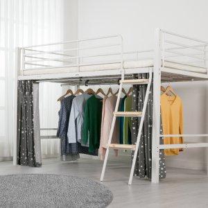 ★신상특가★ [에보니아] 럭키 벙커침대 매트선택 하부옷걸이봉 좌식형책상침대