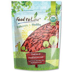 Food to Live Organic dried blueberries 340g Notice