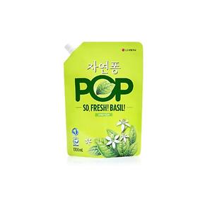 자연퐁 팝 POP 상쾌한 바질향 주방세제 리필 1300g