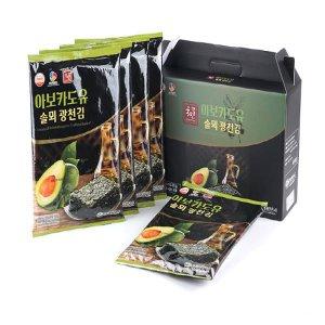 [선물세트][6+1] 더국민 아보카도유 전장김 20g 5개입