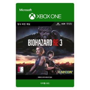 레지던트이블 RE3 바이오하자드3 Xbox Digital Code
