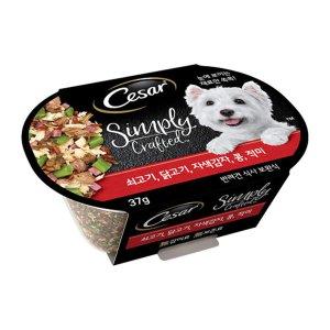 시저 심플리 크래프티드 쇠고기,닭고기,자색감자,콩,적미 37g