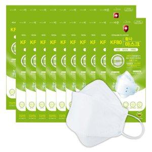 깨끗한 숨결 KF80 마스크 100장 세트(대형/화이트/5매x20팩)