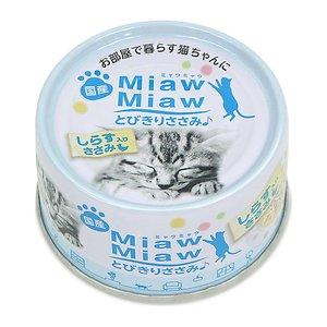 아이시아 먀우먀우 닭가슴살+치어 (MT-6) 캔 60g