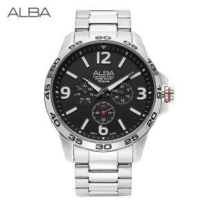 알바 ALBA AP6311X1 쿼츠 남성 메탈 44mm