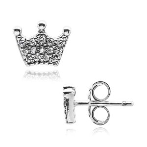 판도라 297127CZ Enchanted Crown Stud 귀걸이