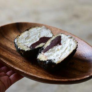 소부당 수제 미니 흑임자 생크림단팥빵 10개 전주맛집