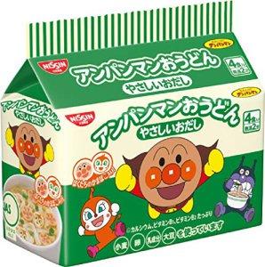 [해외]닛신 호빵맨 우동 야채육수 4개입 컵라면 88gx12개