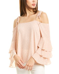 Vince Camuto Tie-Strap Tiered Sleeve Top