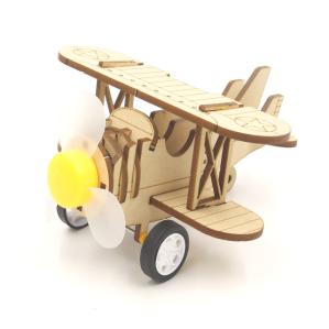 크래빗 DIY 움직이는 나무장난감 두날개 비행기