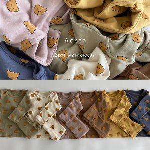 유아동 북유럽풍 톤다운 컬러 캐릭터 9부 실내복