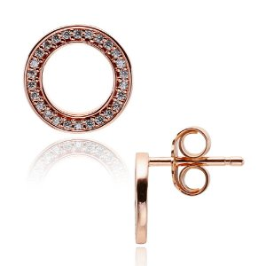 판도라 280585CZ FOREVER STUD ROSE PANDORA Earrings