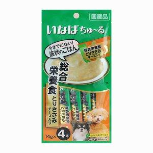 이나바 강아지 츄르 종합영양식 닭가슴살&치즈(D-107) 14gx4개입