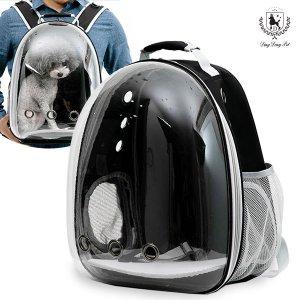 딩동펫 반려동물 이동가방 투명우주선백팩
