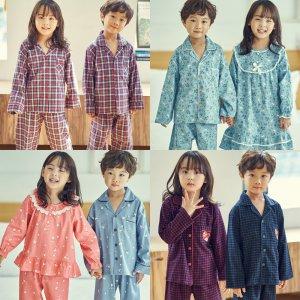 아동 가을 겨울 잠옷 9부 초등학생 남매 파자마