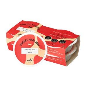 꼬뜨 포켓밀 소고기 강아지주식캔 60g x4개입