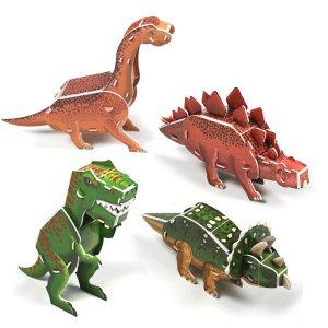 크래커플러스 3D 퍼즐 공룡시리즈 4종1 /PCP010T