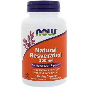 나우푸드 천연 레스베라트롤 200 mg 120 야채 캡슐