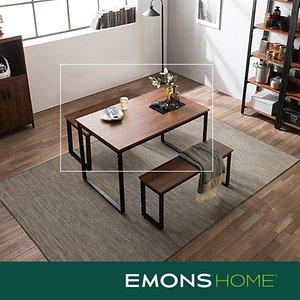 [에몬스홈]인디 스틸 멀바우 테이블 식탁 1200