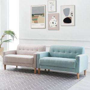 티아라 2인소파/방수패브릭/인조가죽/원룸형2인쇼파