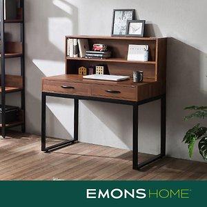 에몬스홈 인디 스틸 멀바우 서랍형 책상세트 900 (상부선반
