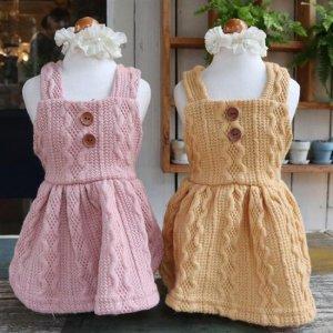 예쁜 xs강아지옷 청순 니트 원피스 가을 겨울옷