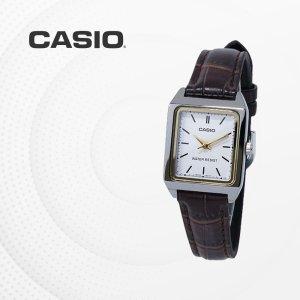 카시오 CASIO LTP-V007L-7E2 가죽밴드 여성 손목시계