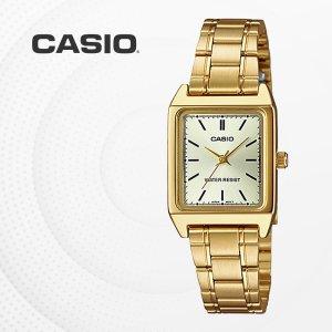 카시오 CASIO LTP-V007G-9E 여성 골드 메탈시계