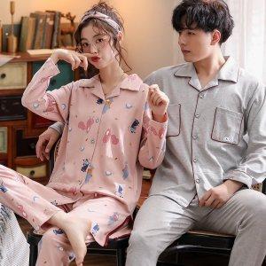 핑크 오버핏 9부 순면 신혼부부 커플잠옷