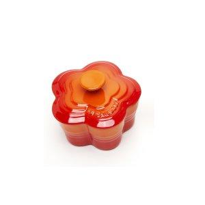 르크루제 [한정판매]플라워 라메킨 찜기(소)