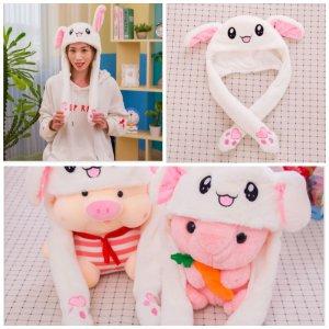 #이슈상품!# 귀가움직이는 토끼모자 귀여운동물모자 연인선물