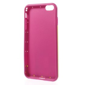 JUJEODream Mesh for iPhone 6 Plus (5.5) PC and TPU Shell Case - Non-Retail Packaging - Rose